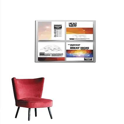 Amazon Com Home Decor Wall Set Of Business Templates For Brochure