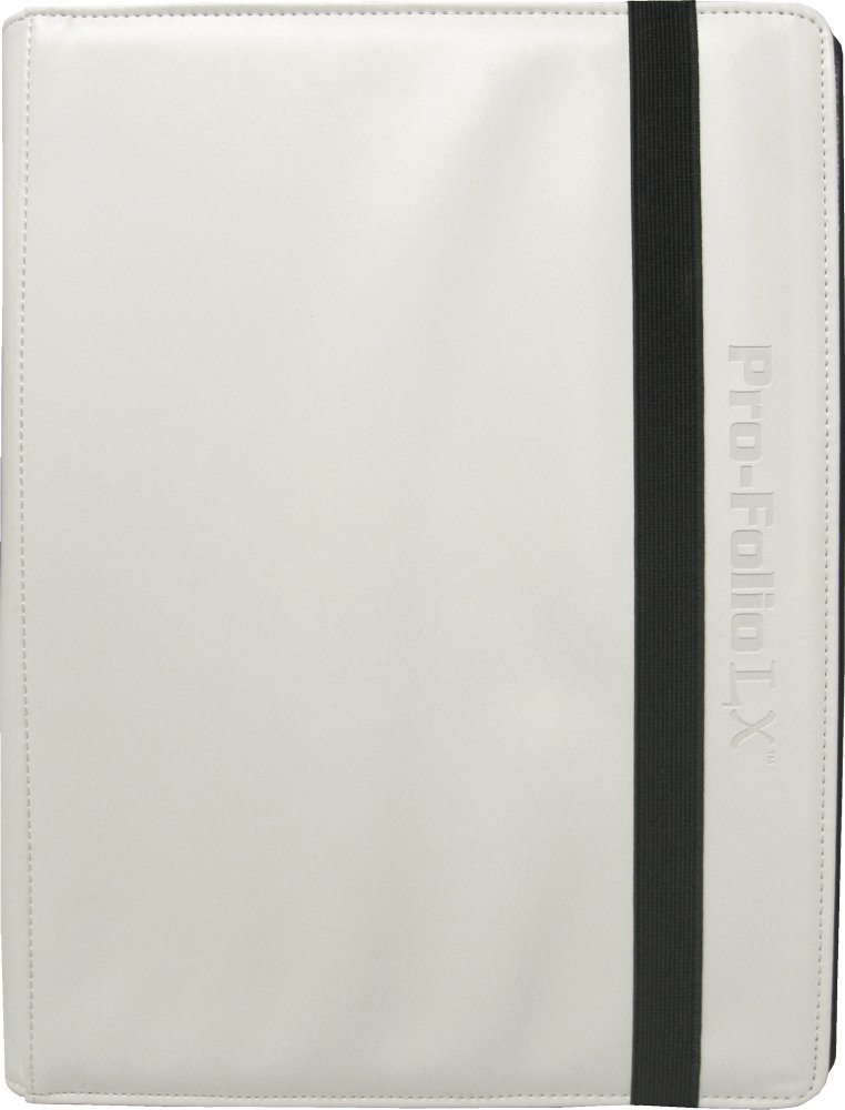 (6) White Trading Card Binders - BCW Brand - 9-Pocket Pro-Folio - LX - #BCW-PF9LX-WHI by Square Deal Recordings & Supplies