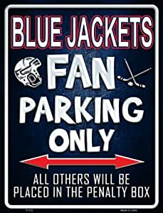 Amazon.com: Blue Jackets Metal Novelty Parking Sign P-312: Sports ...