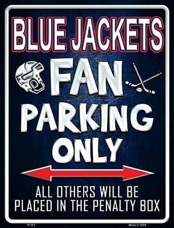 Amazon.com: Blue Jackets Metal Novelty Parking Sign P-312: Sports