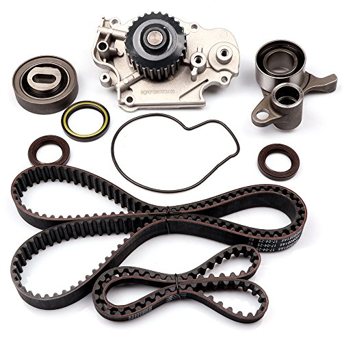 SCITOO Engine Timing Part Belt Set Timing Belt Kits, fit Honda Prelude 2.2L L4 DOHC 1993-2001 Replacement Timing Tools with Water Pump H22A1 ()