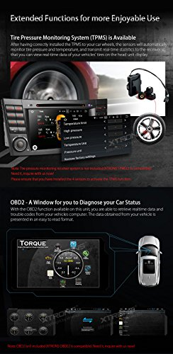XTRONS Android 6.0 Octa-Core 64Bit 7 Inch Capacitive Touch Screen Car Stereo Radio DVD Player GPS CANbus Screen Mirroring Function OBD2 Tire Pressure Monitoring for Mercedes-Benz E-Class W211 by XTRONS (Image #8)
