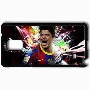 taoyix diy Personalized Samsung Note 4 Cell phone Case/Cover Skin 2013 david villa fc barcelona football Black