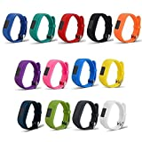 TenYun Replacement Wristband and straps With Secure Clasps for Garmin Vivofit 3 / Vivofit Jr. (No tracker, Replacement Bands Only) (13PCS)