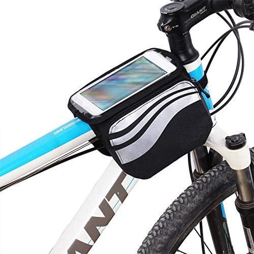 Impermeable Resistente Al Agua Tel/éfono M/óvil Funda M/óvil Soporte Tubo Bici Ciclismo Negro Y Plata K-S-Trade Bolso Funda Bicicleta para Huawei P40 Lite