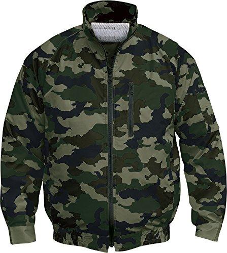 NSP 空調服 服単体 チタンコーティング 立ち襟 迷彩グリーン L 8209079 B06ZYGNWDN L