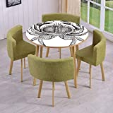 Best A&T Designs Seafoods - SINOVAL Fashion Round Table/Wall/Floor Decal Strikers/Removable/Seafood Theme Design Review