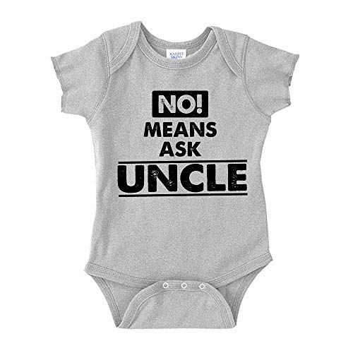 No Means Ask Uncle Toddler T-Shirt 2T Athletic Heather