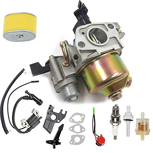 GX120 Carburetor with Ignition Coil and Air Filter for Honda GX120 GX140 GX160 GX168 GX200 Small Engine Replaces# 16100-ZH8-W61 (Clone Engine Parts)