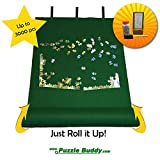Puzzle Buddy: Jigsaw Puzzle Roll Up Felt Mat | Securely Store, Transport Unfinished Puzzles, (Includes Box Stand and Glue Kit), Perfect for Grandparents, Grandkids and Puzzle Enthusiasts | Made In the USA - Storage Kit For Puzzles Up To 3000 Pieces, 54'' x