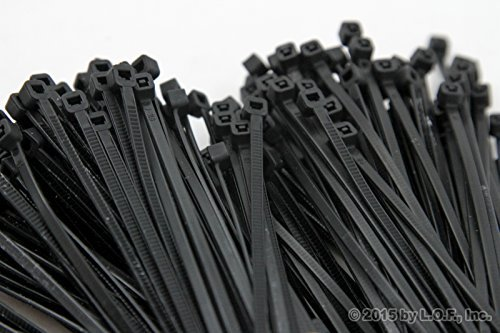 500-Pack Heavy Duty 8 (50lbs) Zip Cable Tie Down Strap Wire Uv Black Nylon Wrap by Red Hound - Zip Hound