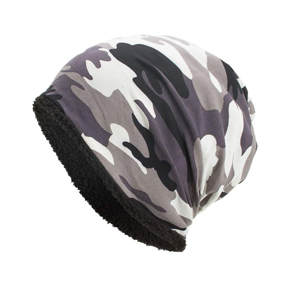 DongDong ♫2018 Fashion Hat, Warm Baggy Camouflage Crochet Winter Skull Caps