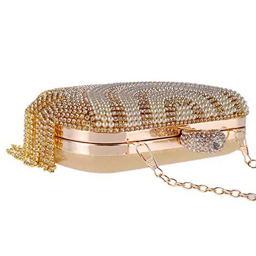 Femmes Cristaux Soirée Mariée Rabbit Des Mariage Strass À Brillant Brillante Main Diamant Gold De Sac Pochette Lovely Tassel WHv4qW