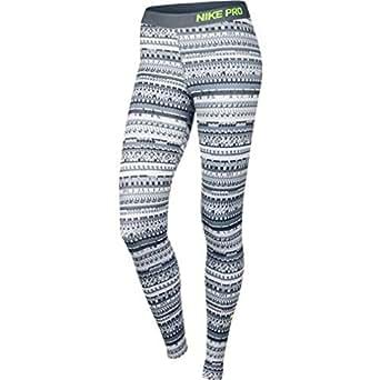 Nike Pro Warm 8 Bit Tight - Cool Grey/Black/Volt, Medium (