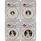 2016 W American Gold Eagle 4-pc Proof Set First Strike 30th Anniversary Label PR70