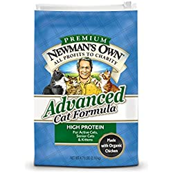 Newman's Own Advanced Cat Food Formula, 4.75-Pound Bag