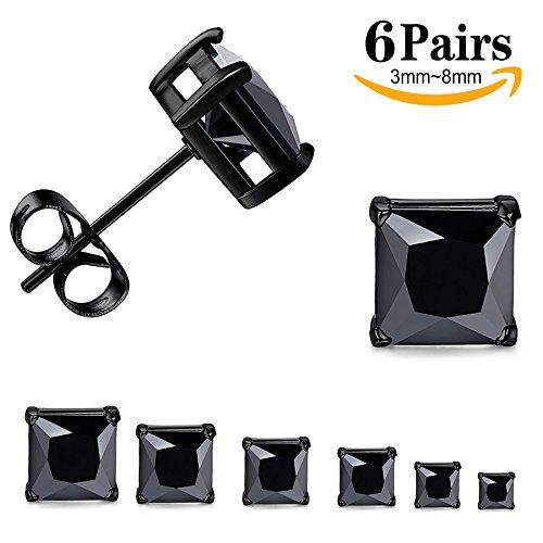 Black Square Earring - 2