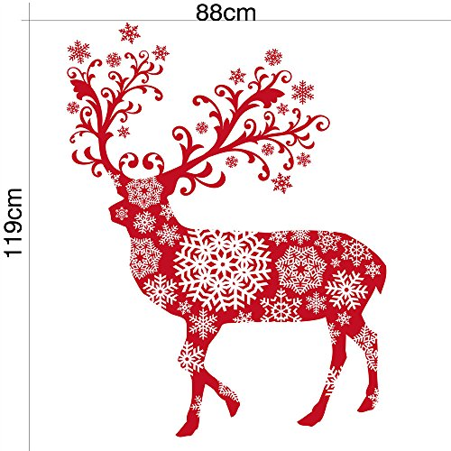 Printable Halloween Book Jackets (Wall Sticker Decal,Christmas Elk Snowflake Removable Home Window Wall Vinyl Stickers Decals Decor(11988)