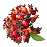 Artificial Blueberry Fruit For Decorating House or Office, Red(25 cm)