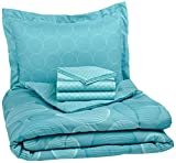 Bed in a Bag AmazonBasics 5-Piece Bed-In-A-Bag, Twin/Twin XL, Industrial Teal