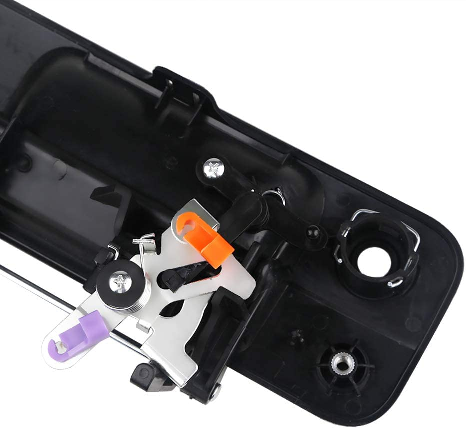 69090-0C040 690900C040 VANJING Rear Exterior Textured Black Tailgate Liftgate Door Latch Replaces Tailgate Handle Liftgate Latch with Keyhole for 2007 2008 2009 2010 2011 2012 2013 Toyota Tundra