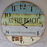 """23"""" Life is Good WELCOME TO THE BEACH Clock"""