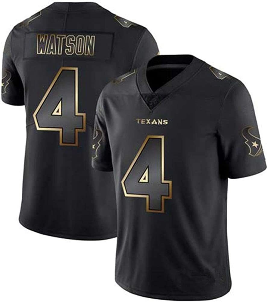 Fan Edition Stickerei NCNC #4#10#99 Houston Texans Watt Rugby Trikots f/ür Damen und Herren American Football T-Shirt S-XXXL