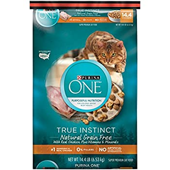 Purina ONE Natural, Grain Free Dry Cat Food; True Instinct Grain Free With Real Chicken - 14.4 lb. Bag