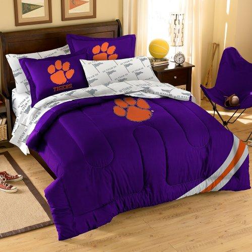 NCAA Clemson Tigers Bedding Set, Full