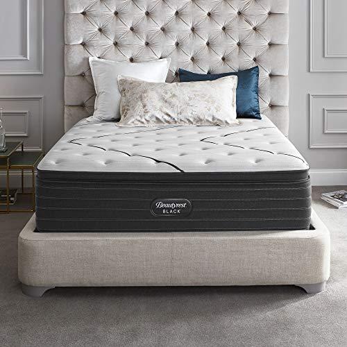 Beautyrest Black L-Class Plush Pillow Top Queen Mattress and Low Profile Box Spring Beautyrest World Class Plush