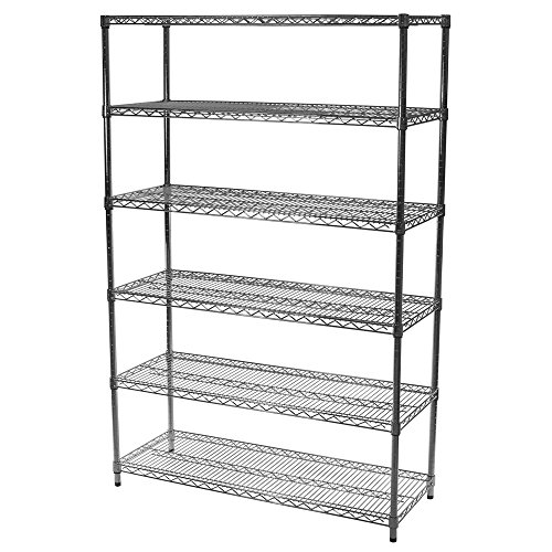 "24""d x 72""w x 72""h Chrome Wire Shelving with 6 Shelves"