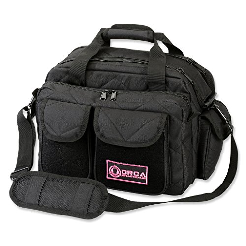 Orca Tactical Gun Pistol and Ammo Shooting Range Duffle Bag (Black/Pink)