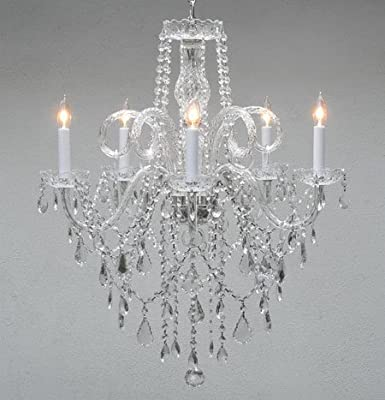 The Gallery Authentic All Crystal Chandelier Chandeliers 30 by 24 Inch