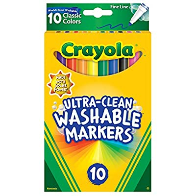 Crayola Ultra-Clean Washable Markers, Fine Line: Toys & Games