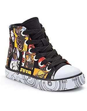 Star Wars Boys High-Top Canvas Sneakers (Toddler/Little Kid/Big Kid) (11 M US Little Kid)