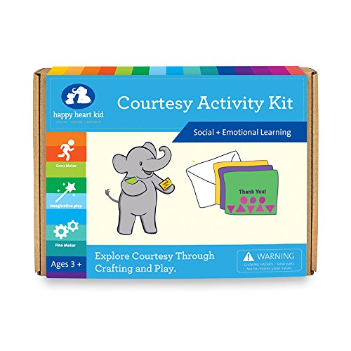Courtesy Activity Kit - Educational Games and Crafts for kids Ages 3-6 years - social skills, manners, and better behavior
