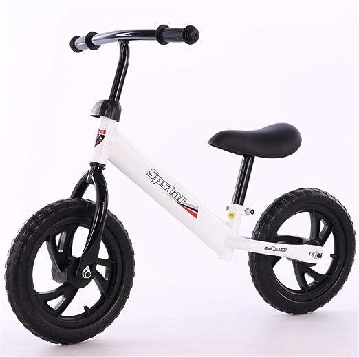 ASDFGH Niños Bicicleta de Equilibrio sin Pedales Altura Ajustable ...