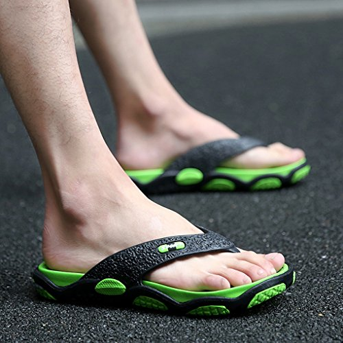 Zapatillas Cómodas LemonGirl de Color Hit Exteriores de de Antideslizantes de Verano Green Playa Hombres Chancletas Sandalias wIr1gq8IB