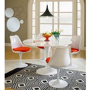 BCT 4 X Eero Saarinen Tulip Chair + Dinning Tulip Table Ø120CM