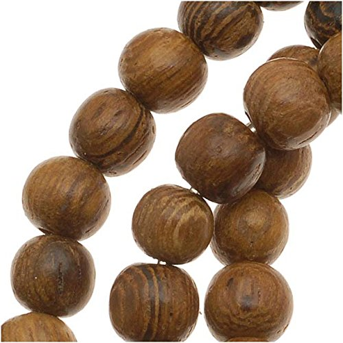 Beadaholique Round Wood Beads, 4 to 5mm/16-Inch Strand, Brown