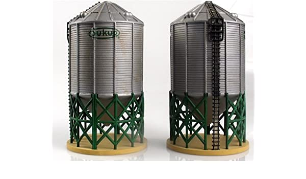 Amazon com: Sukup Grain Towers (2) Large Ho Scale Imex: Toys & Games