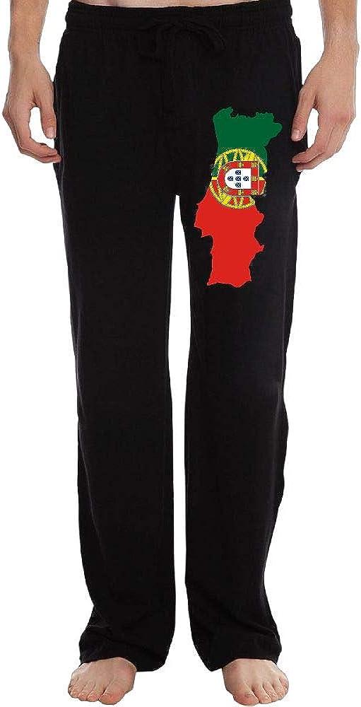 PT25dw-2 Long Sweatpants for Men Big /& Tall Portugal Map 100/% Cotton Sports Pants