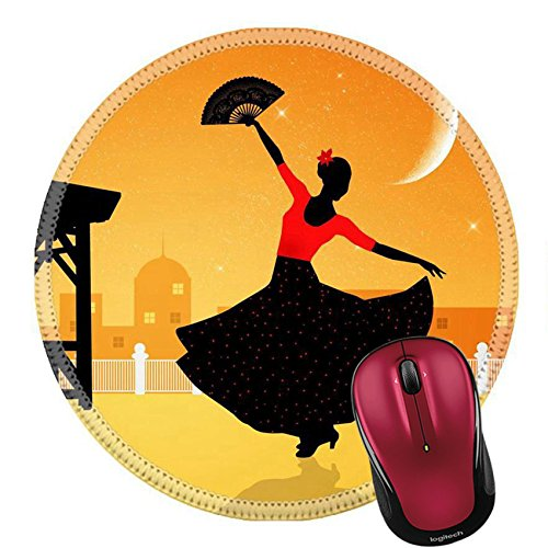 Flamenco Dancer Costume Ideas (Liili Mouse Pad Natural Rubber Round Mousepad Illustration of flamenco dancer Image ID 21730598)
