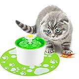 Petacc Cat Fountain Automatic Cat Water Dispenser - Cat Water Fountain for Pet Health - BPA-free - 1.5L (Green)