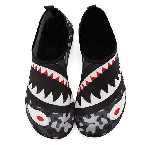 Shark de Buceo Piscina Playa Shoes Beach Descalzos Transpirable de Cómodo Agua Surf Barefoot Yoga Grey Zapatos Aqua Water Zapatos Suave 7qfCx1UWw
