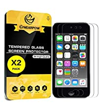 [2 Pack] iPod touch 6th Gen Screen Protector, Nearpow 2015 Released Tempered Glass Screen Protector with [9H Hardness] [Crystal Clear] [Easy Bubble-Free Installation] [Scratch Resist]