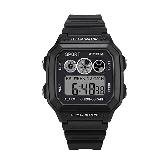 OPAKY Relojes Deportivos para Hombres Analógico Digital Militar Deporte LED Impermeable Reloj de Pulsera Resistente al Agua Digital Militares Relojes ...