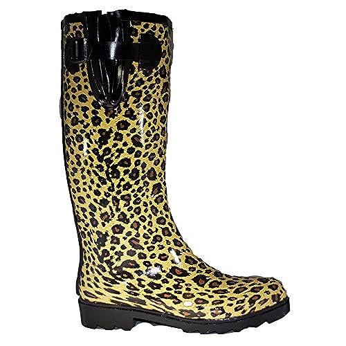 1446c847b0a9d Women's Rain and Snow Boot Multi Color Mid Calf Knee High Waterproof ...