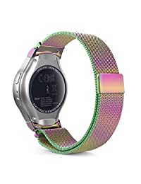 Gear S2 Watch Band, MoKo Milanese Loop Stainless Steel Mesh Bracelet Smart Watch Strap + Connector for Samsung Gear S2 SM-R720 & SM-R730 Smart Watch (Not Fit Gear S2 SM-R735), COLORFUL