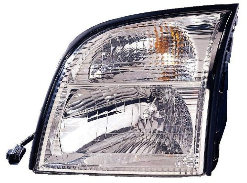 Depo 331-1186L-AS Mercury Mountaineer Driver Side Replacement Headlight (Mercury Mountaineer Headlight Lh Driver)